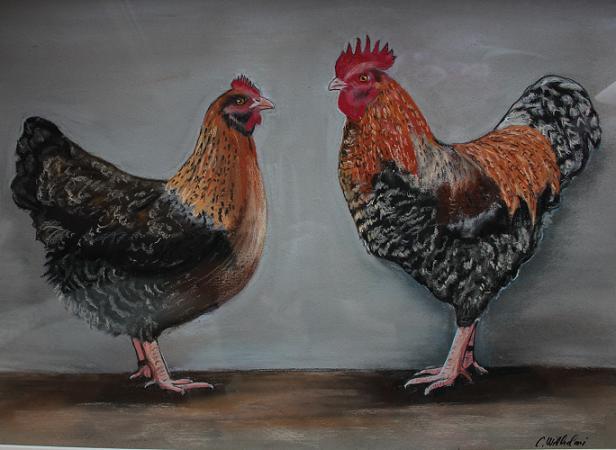 Hühner-Gemälde